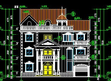 528平方米3层欧式独栋别墅设计图