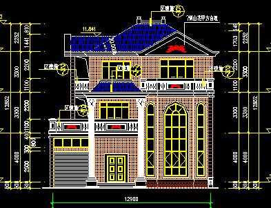 147平方米三层单家独院式别墅设计图