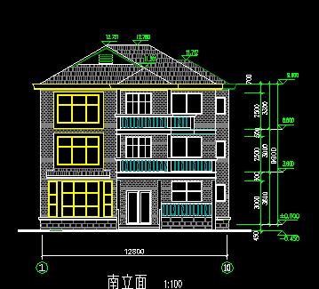 140平米单家独院式三层别墅设计图