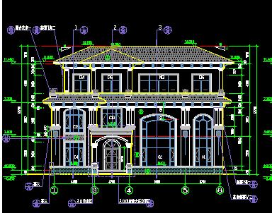 257平方米3层单家独院式别墅设计图