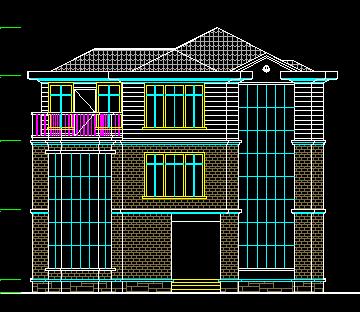 109平方米三层别墅设计图
