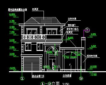 140平方米3层独栋别墅设计图(含建筑结构)