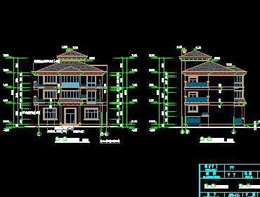 三层半欧式风格别墅设计图纸免费下载 - 别墅图纸