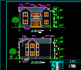 213平方米二层别墅设计图
