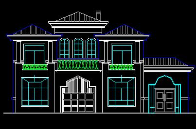 二层独栋别墅设计图纸(含建筑结构水电)