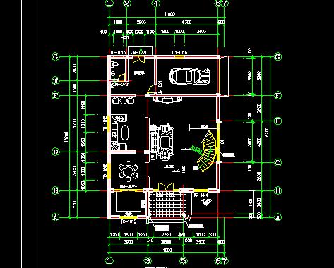 三层别墅建筑设计图纸(带结构图)