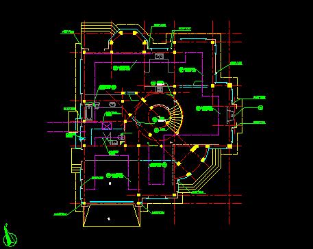 某欧式二层别墅建筑设计图纸