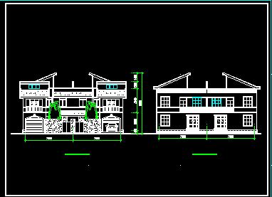 二层半联排新农村别墅设计图图片