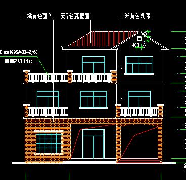 135平方米三层单家独院式别墅设计图