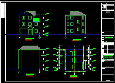 100平方米3层新农村独栋别墅设计图