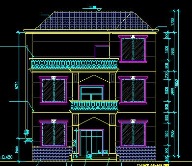 129平方米三层独栋别墅设计图