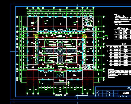 四合院风格二层别墅设计图纸(含效果图)免费下载