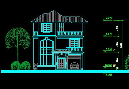 109平方米三层农村别墅设计图
