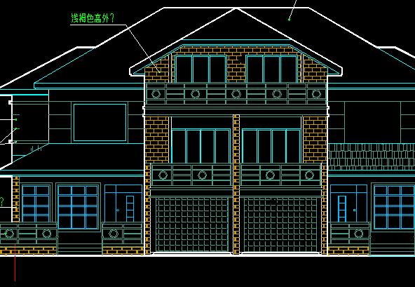 2层双联别墅建筑结构施工图