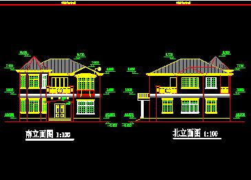 二层农村小型别墅设计图