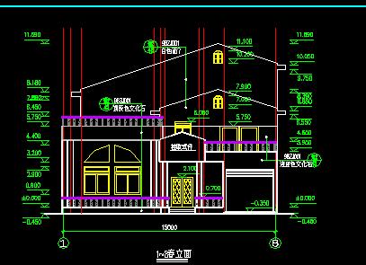 三层单体别墅建筑设计图
