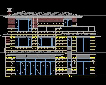 三层农村别墅建筑结构施工图