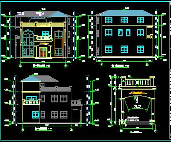 农村小别墅建筑设计图纸