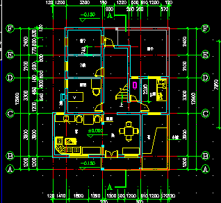 农村二层别墅建筑施工图纸