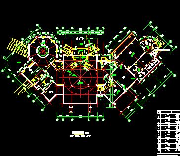 豪华四层别墅建筑设计图纸