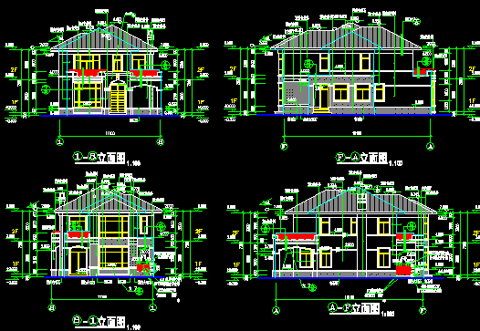 2层欧式别墅建筑施工图(含结构)免费下载 - 别墅图纸