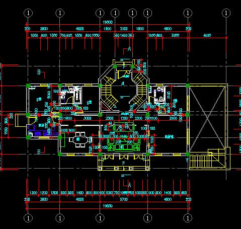两层瑞典式风格别墅建筑施工图纸