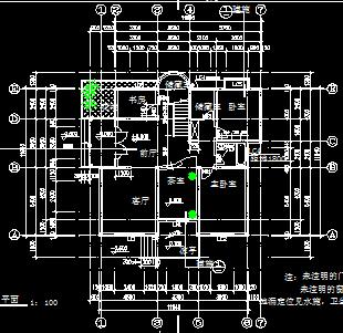 单栋三层别墅建筑设计图纸