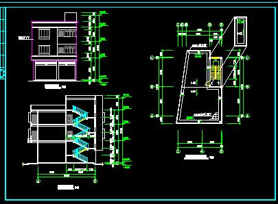 三层农村异型住宅建筑设计图