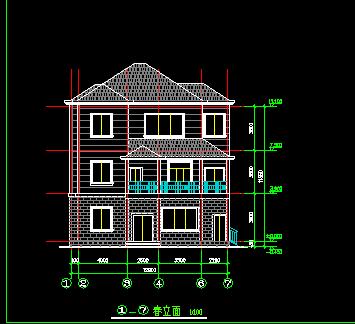 三层农村住宅楼设计图免费下载 - 别墅图纸 - 土木