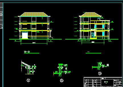 129平方米3层独栋别墅设计图(建筑结构电)免费编织的珠子图纸图片