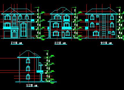 建筑设计 03  建筑图纸 03  别墅图纸 03 正文   资料大小:7.