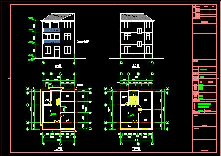 90平方米3层农村独栋别墅设计图