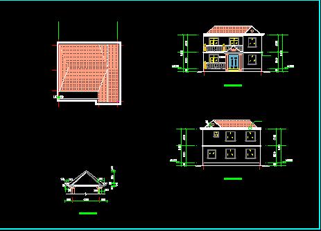 98平米二层独栋别墅设计图