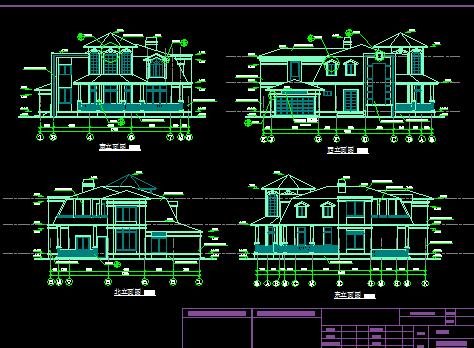 二层独栋别墅设计图免费下载 - 别墅图纸 - 土木工程网