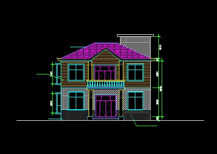 二层独栋别墅设计图