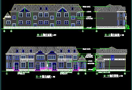 二层别墅建筑设计图纸