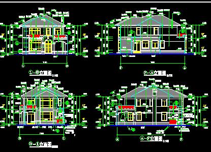 二层乡村别墅建筑设计图