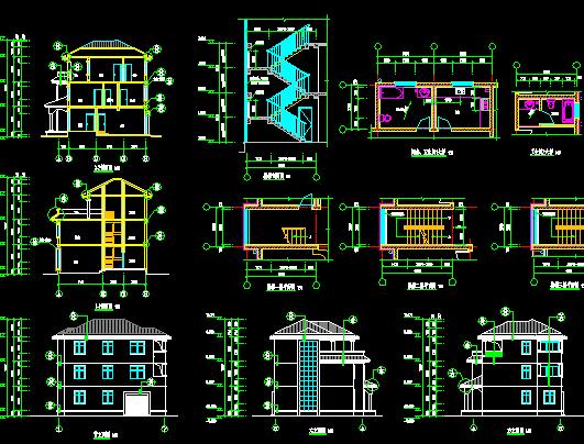 某三层别墅设计图纸