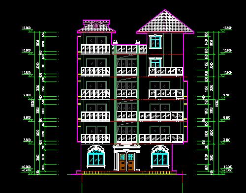 五层别墅建筑施工图纸