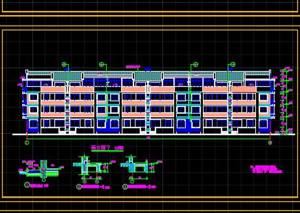 农民拆迁安置小区四层住宅楼建筑设计图
