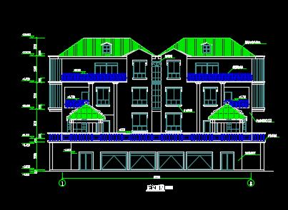529平方米三层别墅设计图纸