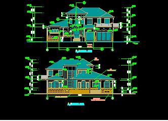 567平方米二层花园别墅建筑施工图纸