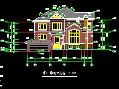 259平方米二层别墅建筑施工图纸
