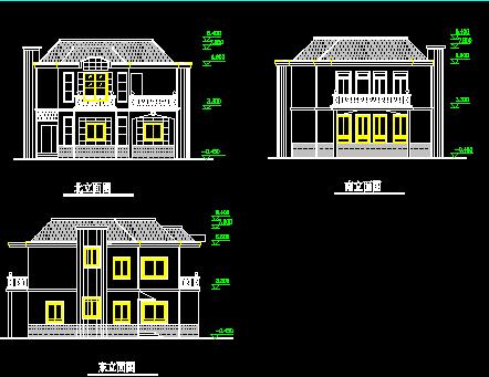 120平方米二层别墅建筑施工图纸