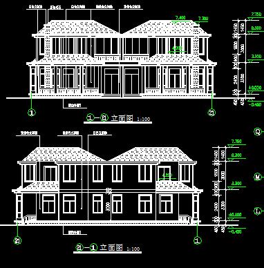 247平方米二层别墅建筑施工图纸