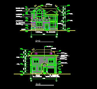 121平方米三层别墅建筑设计图纸