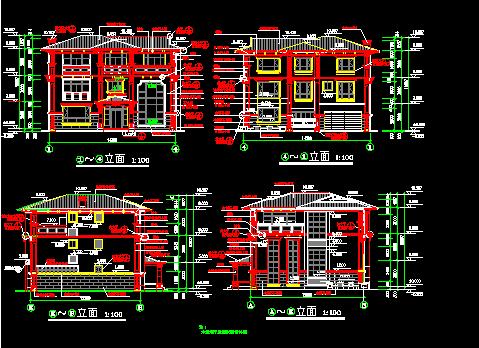 168平方米三层欧式别墅建筑设计图纸