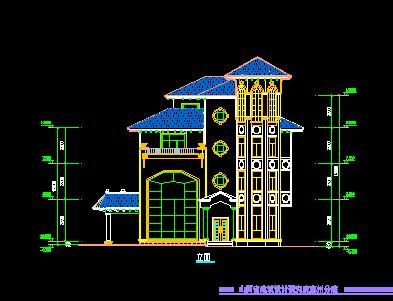 192平方米四层别墅建筑设计图纸