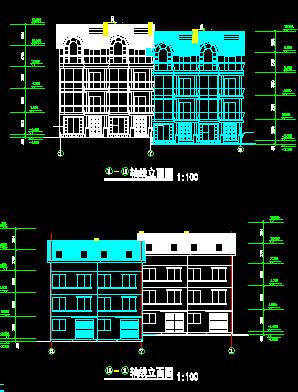 528平方米三层别墅建筑施工图纸