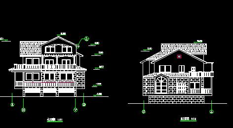 210平方米三层别墅建筑施工图纸